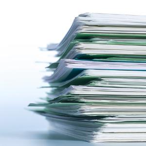 Storing paperwork