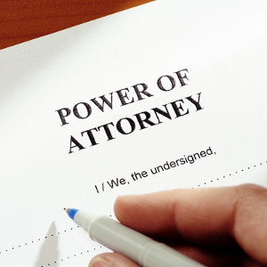 The power of attorney makes it easier