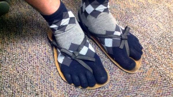 October fashion - socks or sandals?