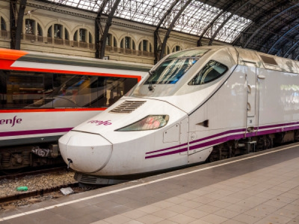 The trains in Spain