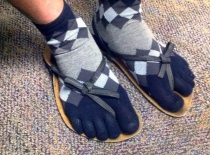 October fashion - socks or sandals?